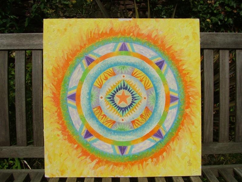Acrylic mandala art fionastolze