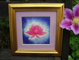 Lotus silk picture
