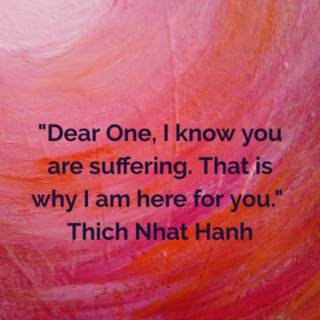 Fiona Stolze acrylic art Thich Nhat Hanh